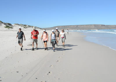 Hikers begin their day's hike on the Five Day Trail.