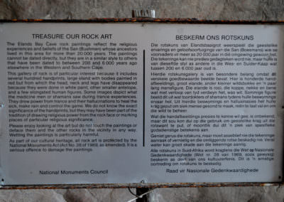 Information at Baboon Point.