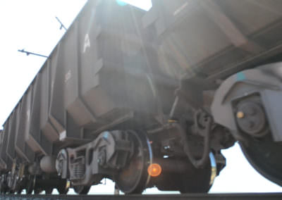 Iron ore being transported from Sishen.